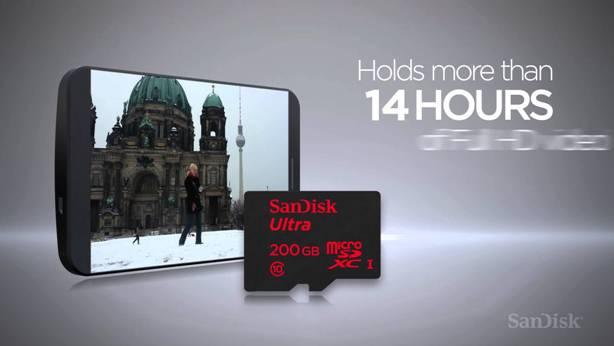 SanDisk Ultra microSDXC UHS-I 200GB, Premium Edition