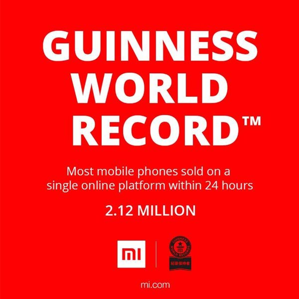 xiaomi guinness world record ok