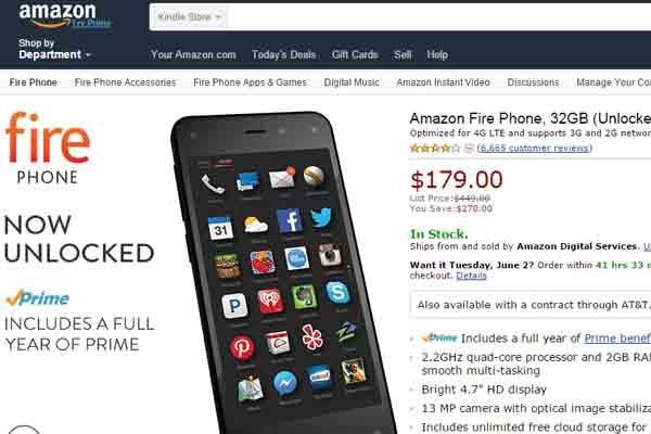 Amazon Fire Phone Sale