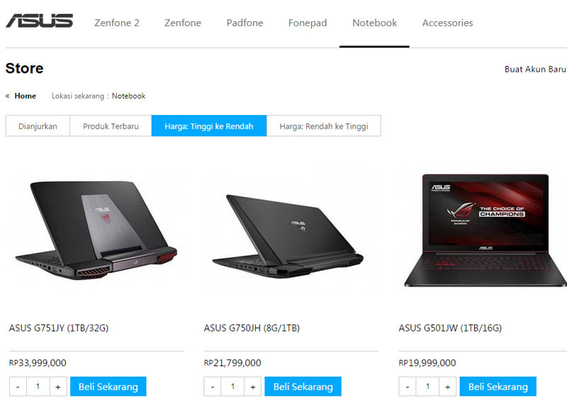 Asus Store Notebook