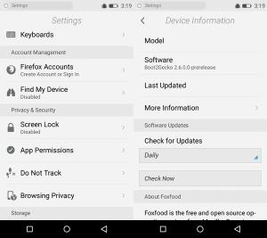 Gambar Pengaturan Firefox OS Android APK
