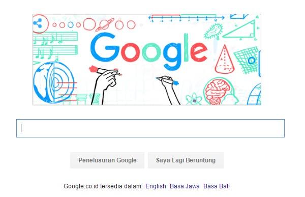 Google Doodle hari Guru Nasional