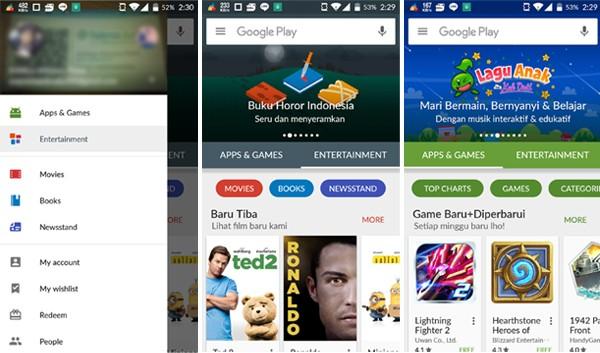 Google Play Store Wajah Baru