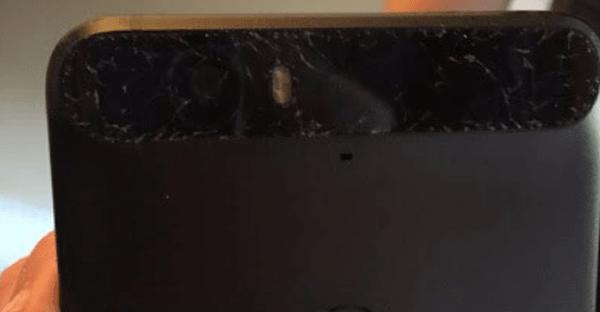Gambar Nexus 6P Kaca Belakang Retak