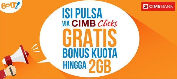 Promo Bolt Bonus 2 GB CIMB Clicks