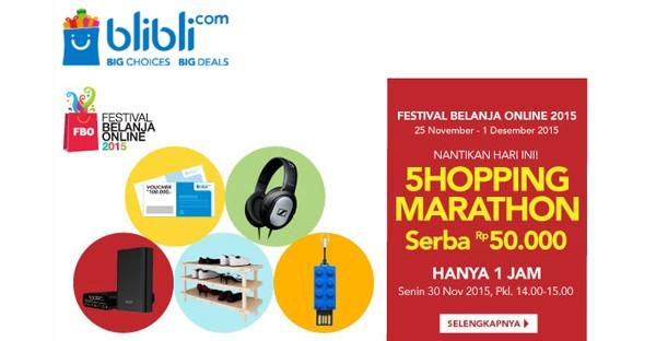shopping marathon blibli serba 50 ribu