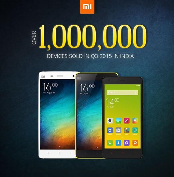 xiaomi 1 juta india