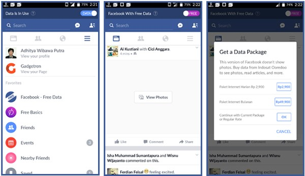 Facebook gratis Indosat Ooredoo