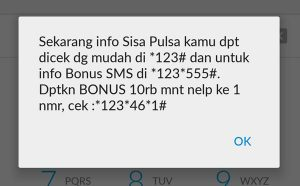 Indosat Ooredoo kode cek pulsa