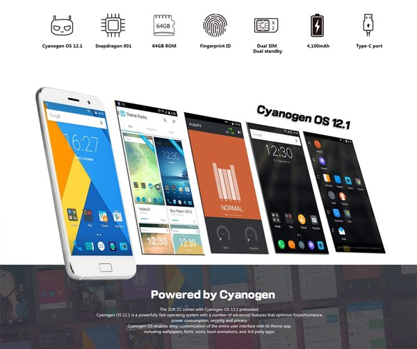 ZUK Z1 Cyanogen