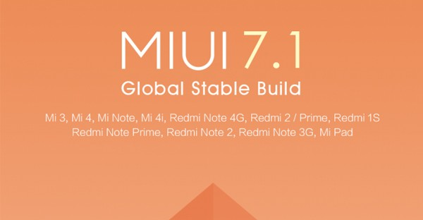 MIUI 7 1 Global Stable Smartphone Xiaomi