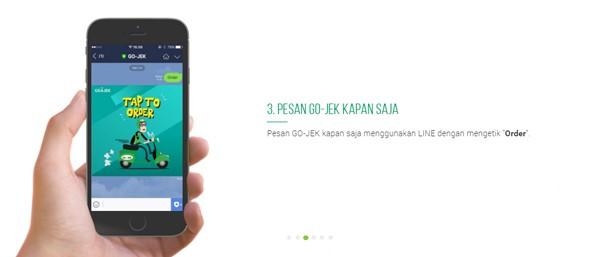 Order Go-jek LINE