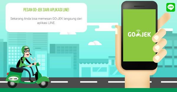 Pesan Gojek Lewat Aplikasi LINE