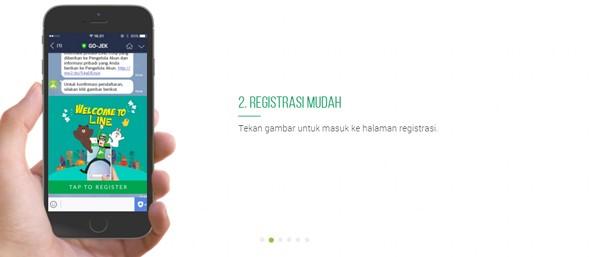 Registrasi LINE Gojek