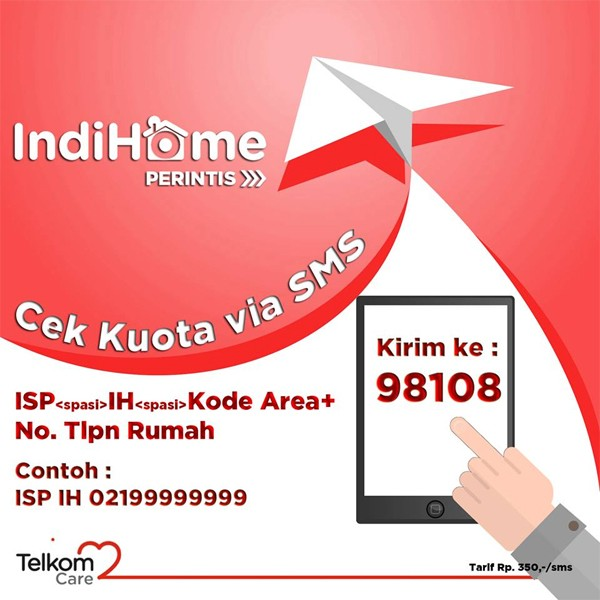 Cek Kuota Paket Internet IndiHome via SMS