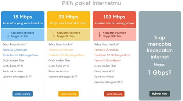 Indosat GIG Paket kuota harga