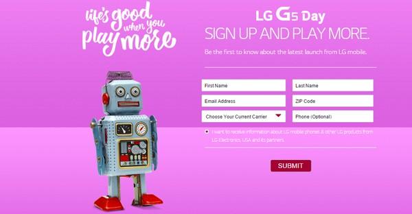 LG G5 Pre-order Pre-register
