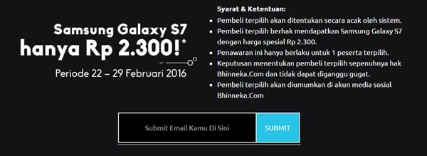 Samsung Galaxy S7 2300 Rupiah
