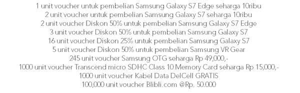 Samsung Galaxy S7 BliBli Hadiah