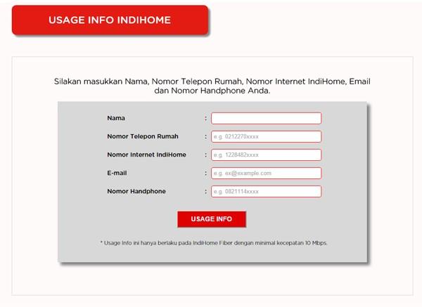 Situs Pemakaian Usage Kuota Internet IndiHome