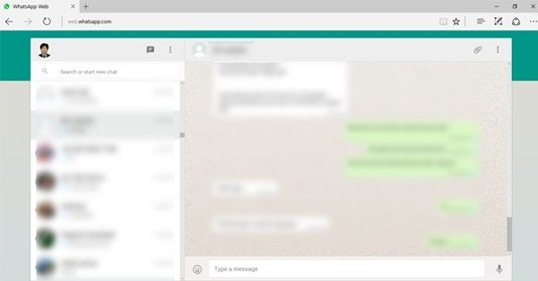 WhatsApp Web Browser Microsoft Edge