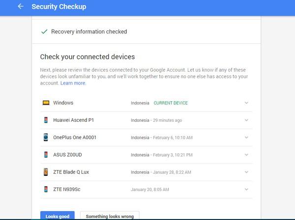 check perangkat google drive
