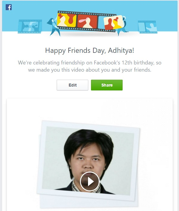 video hari pertemanan saya #friendsday Facebook