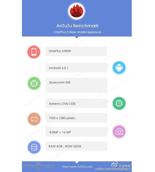 OnePlus 3 Snapdragon 820