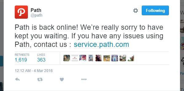 Path bermasalah hubungi web