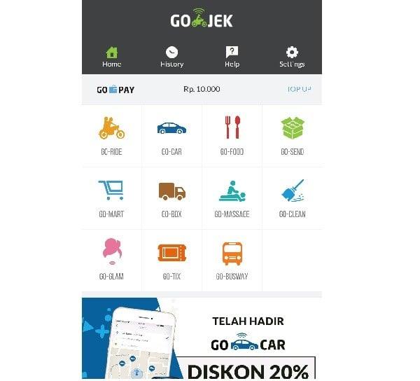 Aplikasi Gojek New