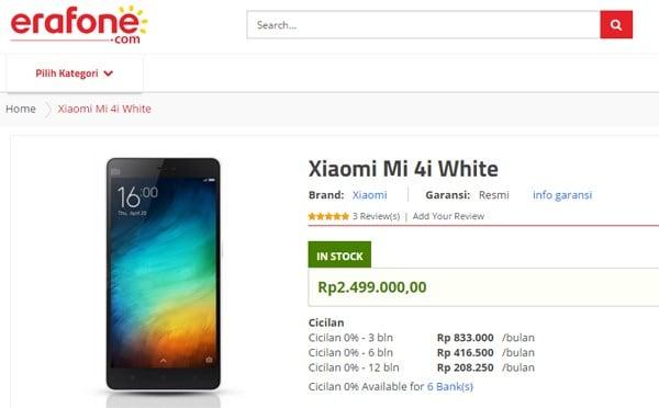 Erafone Xiaomi Mi 4i
