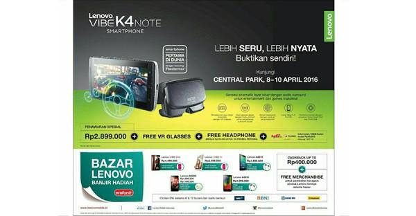 Harga Lenovo VIBE K4 Note di Indonesia