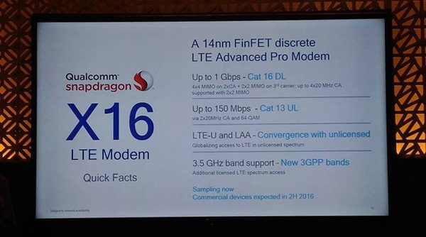 Qualcomm Snapdragon X16 LTE Modem