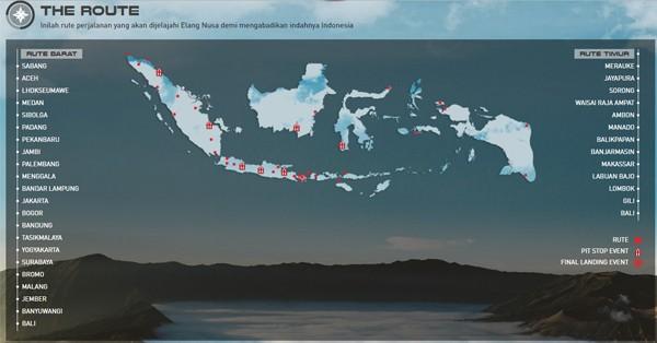 Rute Elang Nusa Telkomsel