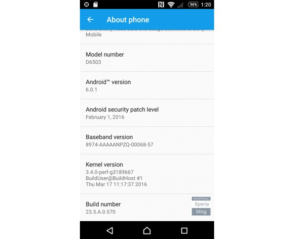 Update Android Marshmallow Xperia Z2 Z3 Z3 Compact