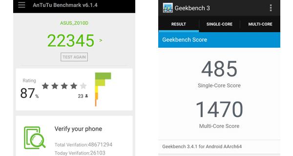 Gambar ASUS Zenfone Max Performance AnTuTu & Geekbench
