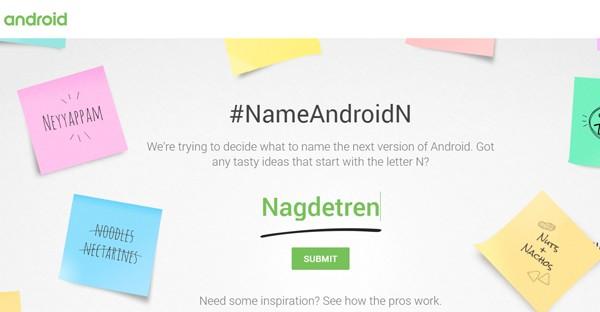 Bantu Google Cari Nama Android N