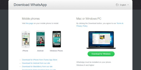 Download WhatsApp versi desktop