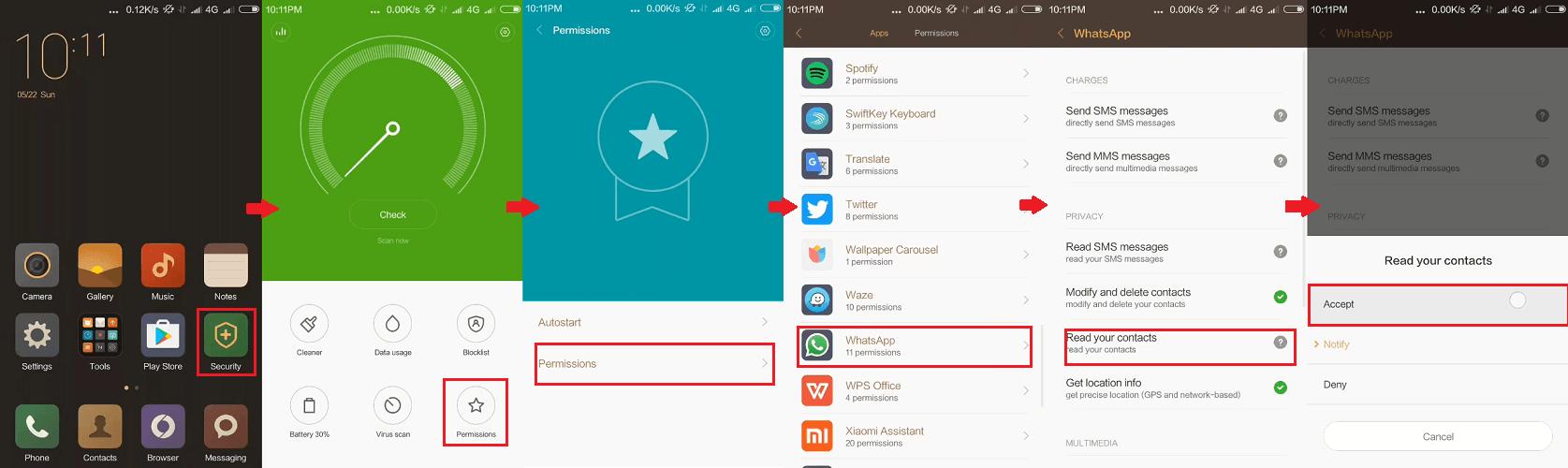 Gambar Kontak WhatsApp Tidak Muncul di Xiaomi