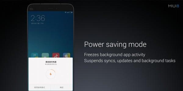 MIUI 8 Power Saving Mode