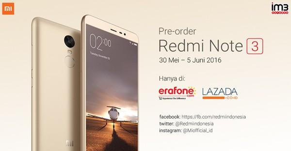 Redmi Note 3 Resmi Indonesia