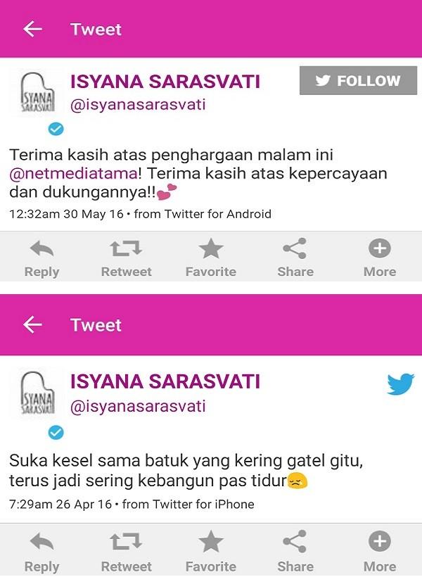 Twit Isyana 1,2