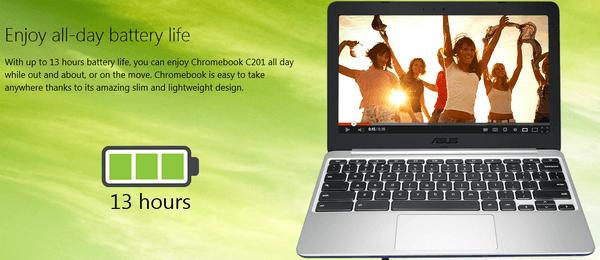 Gambar ASUS Chromebook C201PA Battery