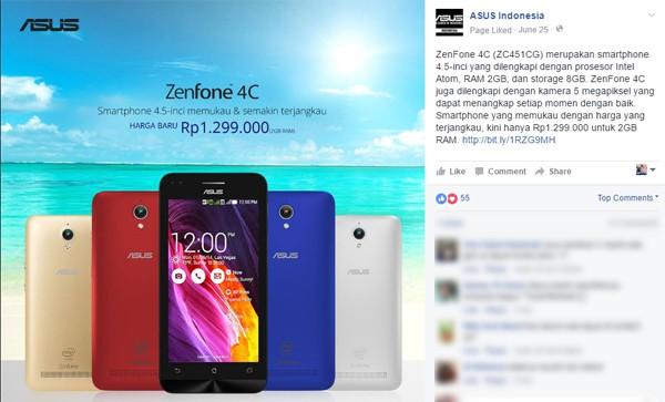 Harga ASUS Zenfone 4C