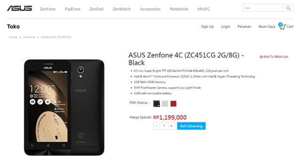 Harga Zenfone 4C