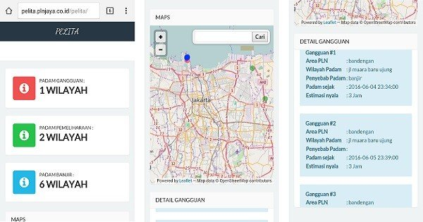 Peta Online PLN smartphone