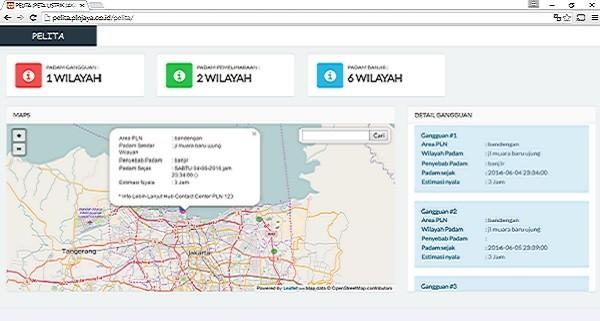 Peta Online PLN
