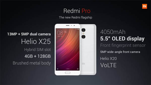 Redmi Pro Spesifikasi