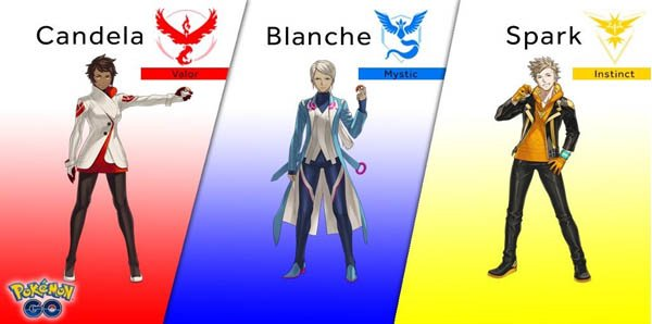 Team Leader Pokemon GO Valor Mystic Instinct