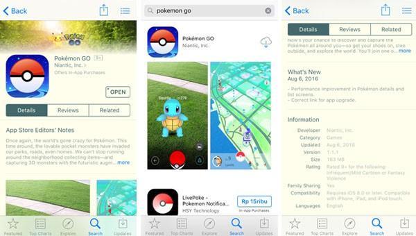 Apple App Store Pokemon GO Indonesia